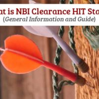 What is NBI Clearance HIT Status