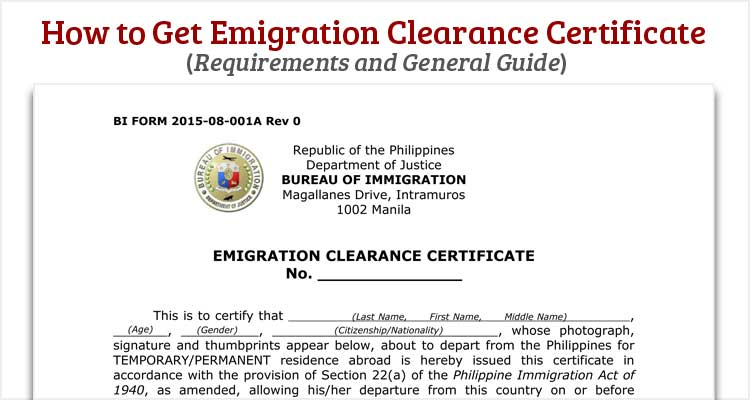 How to Get Emigration Clearance Certificate ECC or Exit Clearance