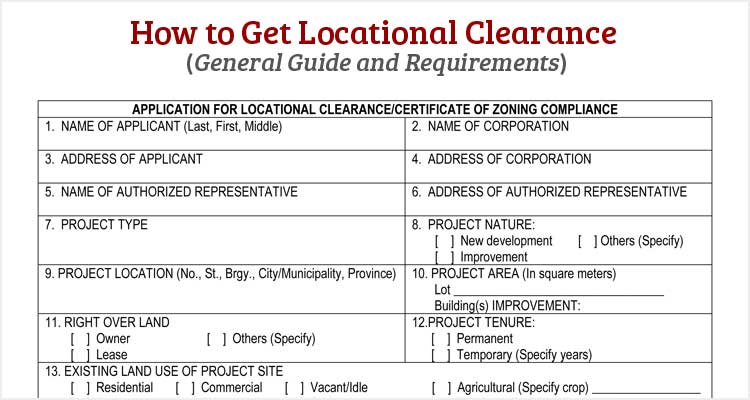 How To Get Locational Clearance Philippine Clearances