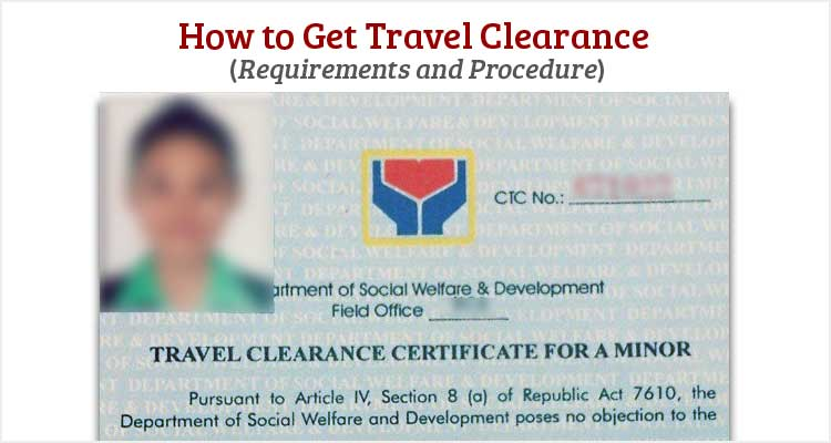 How to Get Travel Clearance